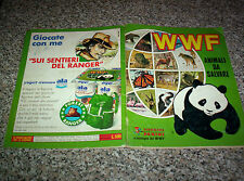 ALBUM figurine WWF ANIMALI DA SALVARE PANINI COMPLETO NO CALCIATORI LAMPO-EDIS