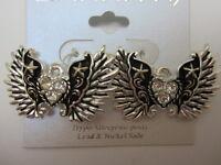 Crystal Wing Dangle Earrings