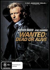 WANTED DEAD OR ALIVE - RUTGER HAUER - NEW & SEALED REGION 4 DVD FREE LOCAL POST