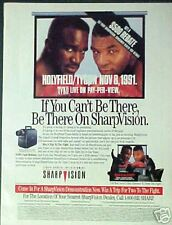 1991 Holyfield/Tyson Boxing Fight Sharp Vision Photo AD