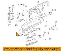 AUDI OEM 02-04 A6 Quattro Instrument Panel Dash-End Cover Right 4B0857086B6PS