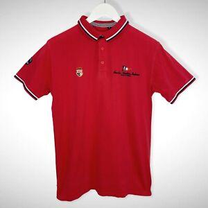 Scuola Nautica Italiana Men's Red Polo Shirt