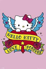 Hello Kitty: Tattoo-Maxi Poster 61cm X 91,5 Cm (nuevo Y Sellado)