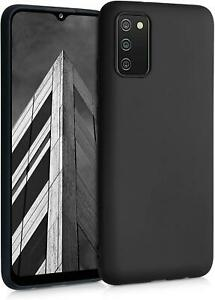 For Samsung Galaxy A03S Case, Matte Black Shockproof Armor Gel Phone Cover