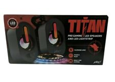 PBX Titan Pro Gaming LED Speakers And LED Lightstrip Sound Responsive