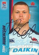 ✺Signed✺ 2017 NSW WARATAHS Rugby Union Card TOM ROBERTSON