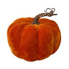 Deko Kürbis Samt Samtstoff herbstlich orange 16cm Wohnaccessoires Herbst modern