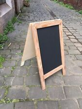 Recycled Wooden A-Frame Sandwich Menu, Chalkboard, Timber, Rustic Blackboard,