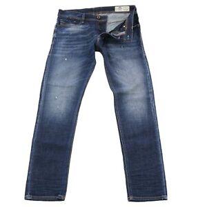 DIESEL Herren Stretch Denim Jeans Hose TEPPHAR Dunkelblau 087AT 2. Wahl Gr 33/32