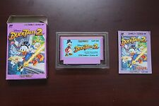 Famicom FC Duck Tales 2 boxed Japan import classic Capcom game US Seller
