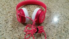 Beats by Dr Dre Solo2 2.0  wired Headphones headband Pink color