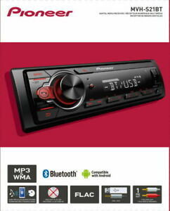 Pioneer Bluetooth Car Stereo Receiver AM/FM Radio Audio System Single Dashboard