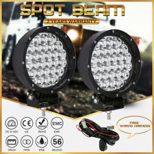 OSRAM Spotlights 7INCH Pair 27800LM LED Driving Lights Black Offroad Ford Jeep