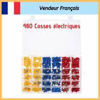 480 Cosse Électrique Connecteurs Isolées à sertir Assortiment Mâle Femelle NEUF