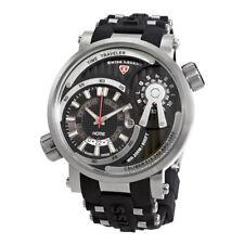 Swiss Legend Time Traveler Black Dial Mens Watch SL-13841SM-01