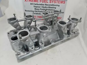 REDLINE MANIFOLD SUIT 4 x IDA WEBER  CARBURETTORS CARBY HOLDEN 308 EARLY HEADS