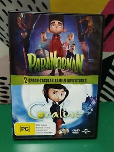 Paranorman : Coraline - 2 SPOOK-TACULAR FAMILY ADVENTURES.  OOP RARE. LIKE NEW
