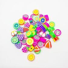 FRUTTA FIMO kawaii fimo perline in confezioni da 50. assortiti Bright Designs