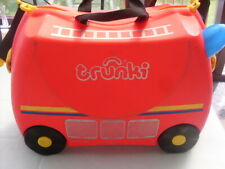 TRUNKI FRANK THE FIRE TRUCK SIT ON AND RIDE CASE  WITH STRAP AND KEY #3