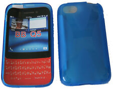 TPU Rubber Pattern Gel Soft Case Pouch Protector Cover BLUE For Blackberry Q5