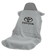 NEW Gray Universal Seat Armour Toyota Logo Front Seat Cover Towel Camry Corolla