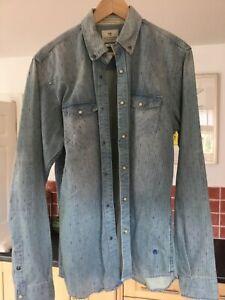 Scotch and Soda - Men's Heavyweight Denim Shirt - Large