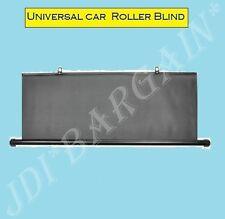 Rear Window Blind Tint Car Roller Curtain Sun Shade Universal(O)Type Black 90cm