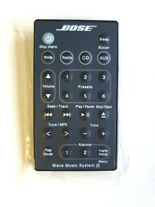 Genuine Bose Wave MUSIC SYSTEM III REMOTE CONTROL (BLACK)