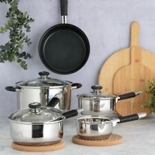 Viners Everyday Stainless Steel Cookware Pan Set 5 piece [vev5]