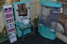 Barbie Size Dollhouse Furniture Modern Comfort Bath Room Set