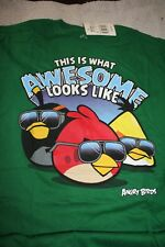 XL 18 BOYS  ANGRY BIRDS AWESOME LOOKS  LIKE  T SHIRT   NEW  $18