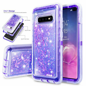 Glitter Liquid Quicksand Case Cover for Samsung Galaxy S10 S9 S8 Plus Heavy Duty
