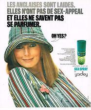 PUBLICITE ADVERTISING 074  1975  YARDLEY   eau de toilette SEA SPRAY