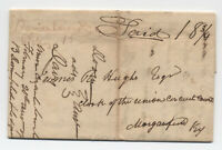 1826 Bairdstown KY manuscript stampless folded letter to Morganfield [5807.2]