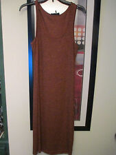 IJeans by Buffalo sleeveless sweater style longer dress,rust color w/black nwt