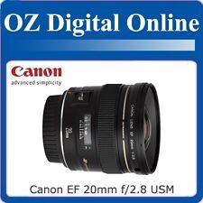 New Canon EF 20mm f/2.8 F2.8 USM Lens 650D 60D 7D 5D 1 Year Au Wty