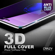 3D Full Cover anti blue light Tempered Glass Screen Protector for iPhone 7 7Plus