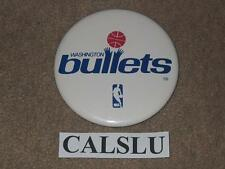"VINTAGE 1974/1975 - 1986/1987 WASHINGTON BULLETS ☆RARE☆ 3 1/2"" PIN BACK BUTTON"