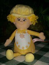 "2011~Little Miss Muffin~ 9"" ~Stuffed Cupcake Girl ~Yellow"