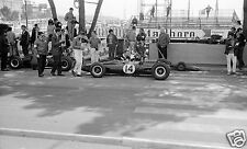 COLIN CHAPMAN GRAHAM HILL LOTUS BRM CHATTING PHOTOGRAPH MONACO GRAND PRIX 1967