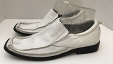 Men's ALDO White Leather Moccasin Driving Shoes Loafer MENS 42 US 10.5