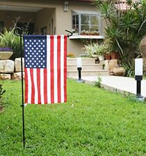 American Flag and Stand Rubber Stopper Anti-Wind Clip Metal Wrought Iron Holder