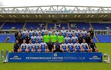PETERBOROUGH UNITED FOOTBALL TEAM PHOTO 2014-15 SEASON