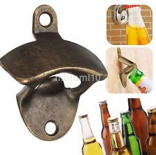 Stylish Wall Mounted Bottle Opener Vintage Bronze Wine Beer Soda Bar Gift US