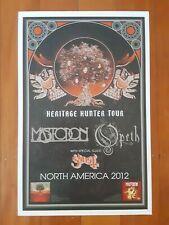 Mastodon Opeth Ghost 2012 tour poster