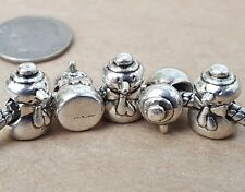 5P LOT Simple Christmas Winter Frosty Snowman Beads fit European Charms Bracelet