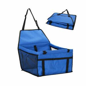NEW Foldable Pet Dog Booster Car Seat Carrier Basket Bag with Safety Belt