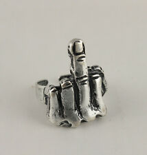 DITO MEDIO ANELLO RING METALLO PUNK GOTHIC METAL FUCK A003