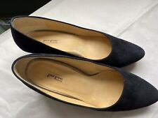 Paul Green Navy Suede Kitten Heel Shoes, Size 6
