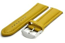 24 mm. Genuine Leather Strap with Regular Buckle - Brown
